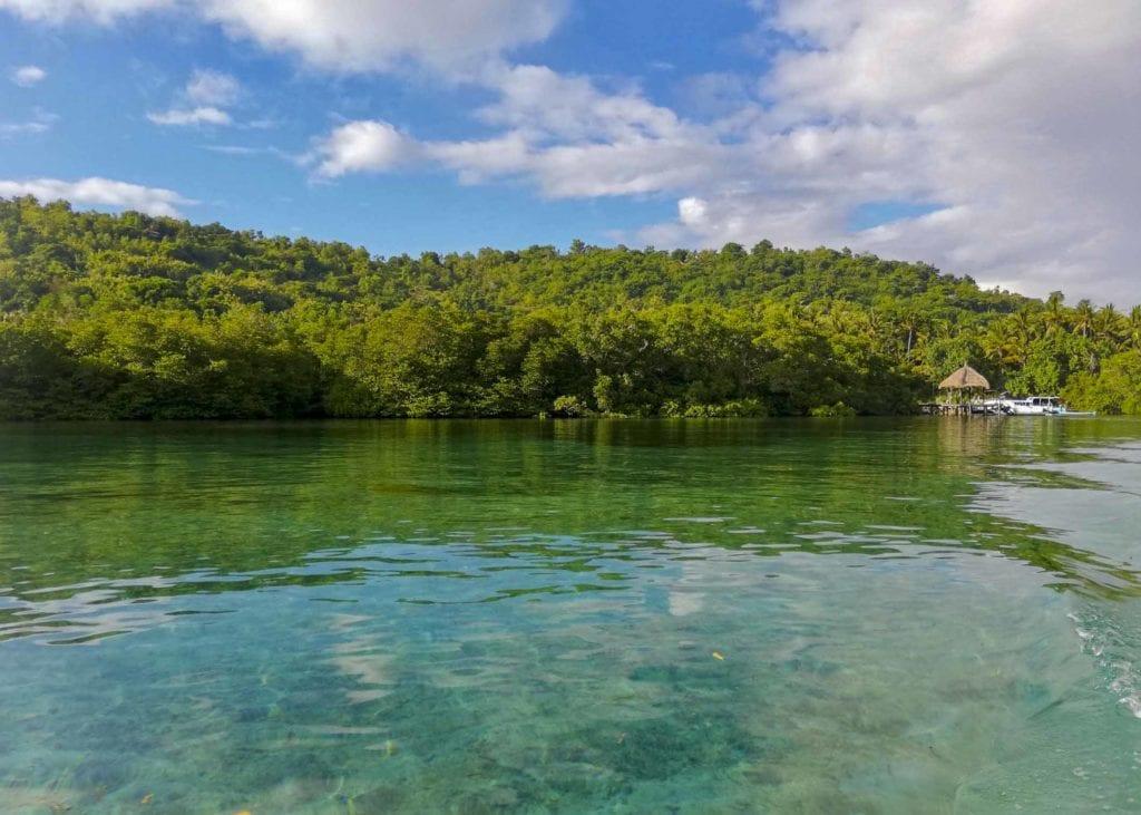 Ceningan Resort tucked away between the mangroves on Nusa Ceningan.