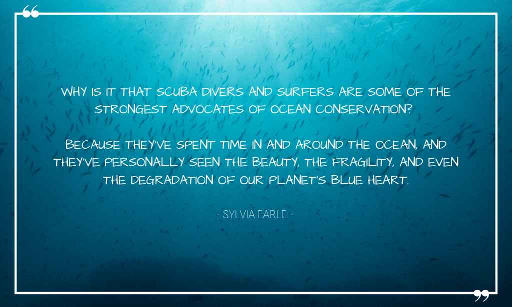 Wise words from famous marine biologist Sylvia Earle